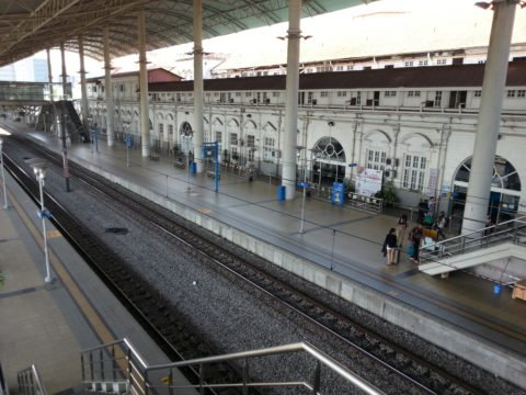 Platforms 1 and 2 at Ipoh Train Station