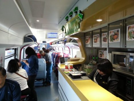 Food counter on an ETS Platinum Train