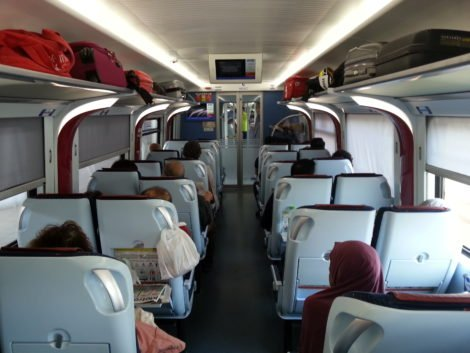 Inside an ETS Platinum Train Carriage
