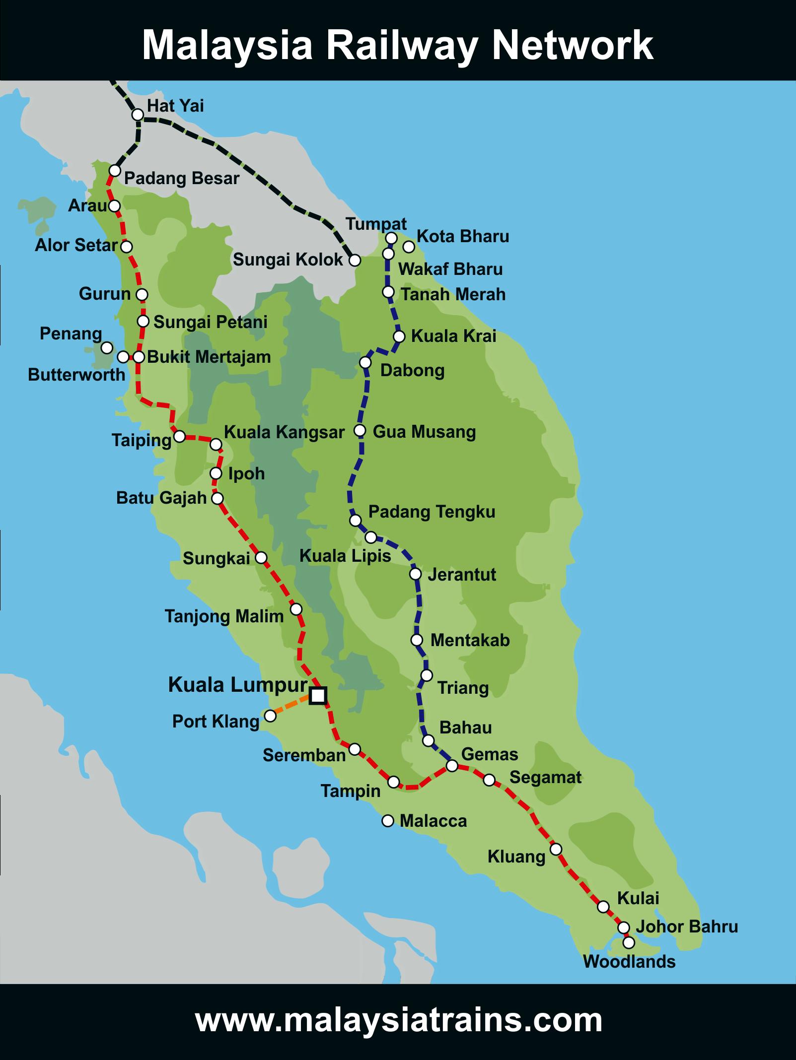 Malaysia Ipoh Map Malaysia Train Map | Malaysia Trains