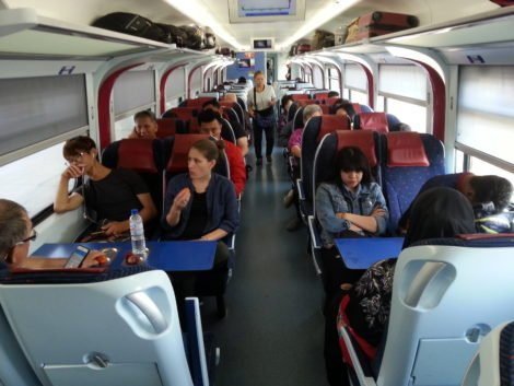 Seating on an ETS Platinum Train