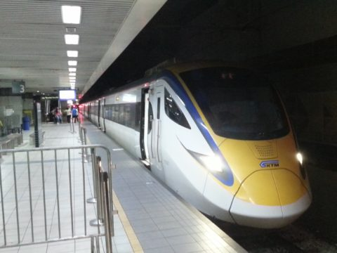 Trains to Gemas pass through KL Sentral Station